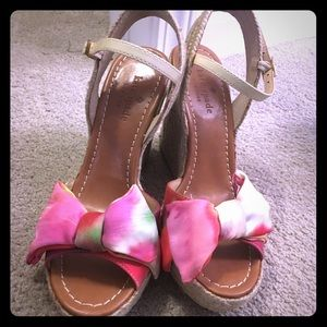 Kate Spade size 6 vero cuoio sandals with bow